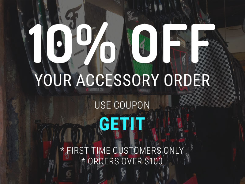 Discounts on Surf Accessories