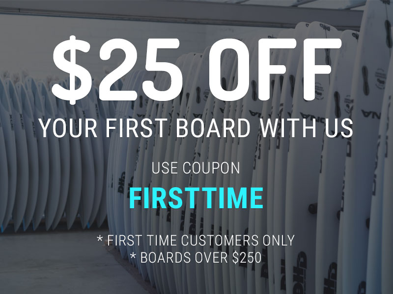 Discount on Surfboards