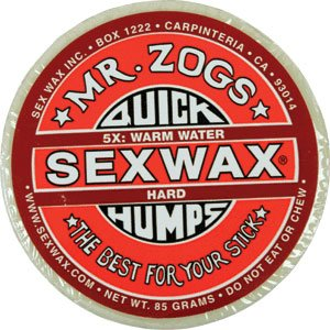 Sex Wax QUICK HUMPS [warm] Red. pack of 4