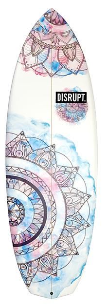 Baked Bean Surfboard Mandala Watercolor