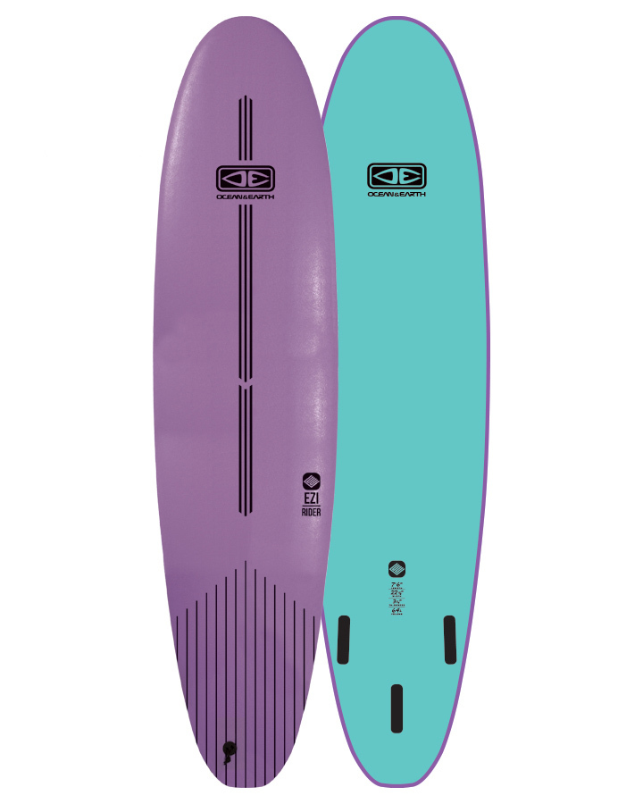 Ocean & Earth Ezi-rider Softboard 7'6 Mauve