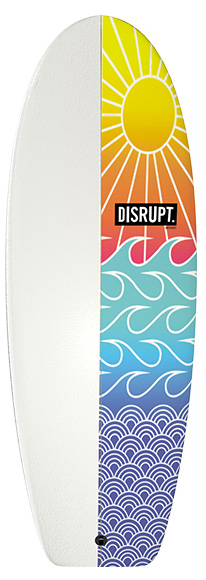 The Sled Surfboard Sunset Pattern
