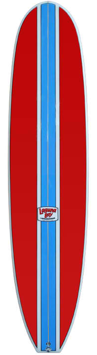 Laguna bay longboards 8ft red and blue